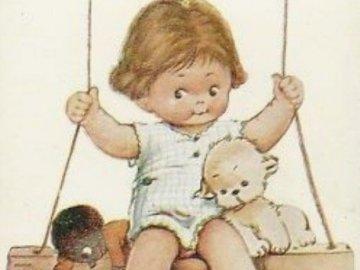 teď Vás hezky pohoupám - teď Vás hezky pohoupám. Ein Baby, das ein Stofftier hält.