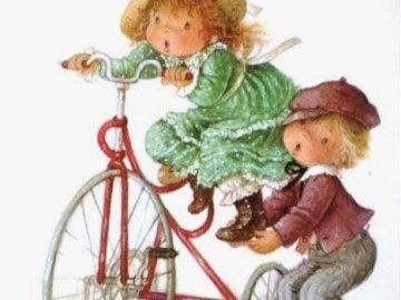 jsi na à kolo malá - jsi na à kolo malá. Un gros plan d'un vélo.