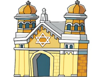 Synagogue for children - Rebuild the place of worship of the Jews. A close up of a building.