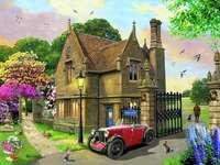 Residence in un bellissimo giardino. - Una residenza con un giardino di splendidi fiori. Una chiesetta in un giardino.