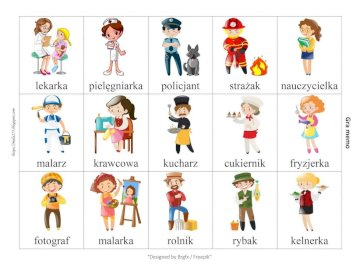 Professions for preschoolers - These are puzzles for the youngest, thanks to which they can get to know different professions. A sc