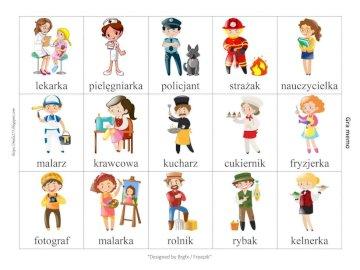 Zawody dla przedszkolaków - To puzzle dla najmłodszych, dzięki którym mogą poznać różne zawody. Zrzut ekranu telefonu kom