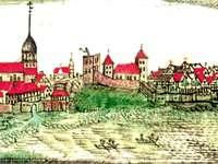 Panorama Kamienia Pomorskiego z XVII w.