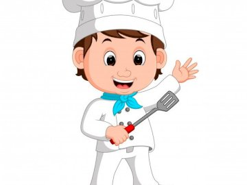 Occupation - chef - familiarization with selected professions. A close up of a toy.