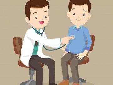 Zawód - lekarz - zapoznanie z wybranymi zawodami. Lalka-zabawka.