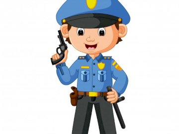 profession - policeman - we get to know selected professions. A close up of a toy.