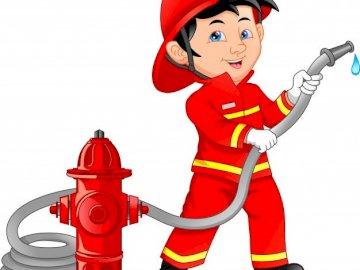 zawód - strażak - poznajemy wybrane zawody. A bliska zabawki.
