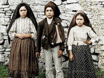 Fatima children: Łucja, Hiacynta, Franciszek - Holy children from Fatima, to whom the Mother of God appeared in 1917. Lucia de Jesus Santos et al.