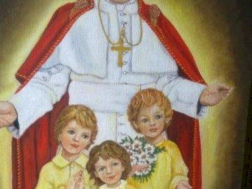 João Paulo II com filhos - .