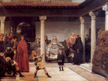 The Education of the Children of Clovis - . A group of people standing in front of a building.