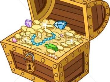 tajemnicza skrzynia skarbów - . Zamknięty pudełko.