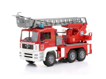 Fire truck - . A red and white toy truck.