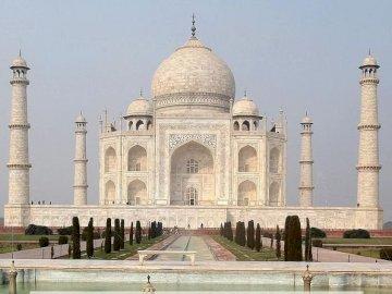 Taj Mahal - . A group of people in front of Taj Mahal.
