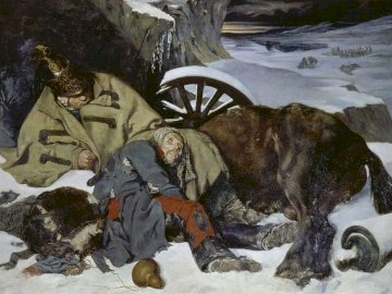Episode from the Retreat from Russia (1835) - .