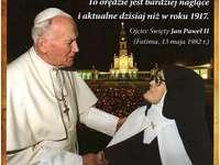 Jean-Paul II et sœur Łucja