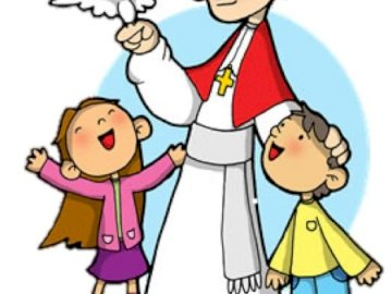 Saint John Paul II - . A drawing of a cartoon character.