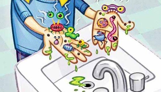 Umyjte si ruce - MYTÍ RUKY 0. . Kresba obličeje (5×5)