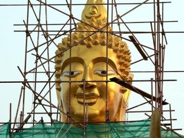 A buddhist temple construction - .