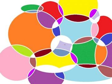 farbige Kreise - sehr bunte Kreise ;-) Bunte Kreise aufeinander angeordnet farbige Kreise
