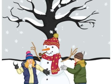 WINTER - SNOWFALL - WINTER GAME WITH CHILDREN
