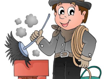 CHIMNEY-SWEEP - The figure of a happy chimney sweep