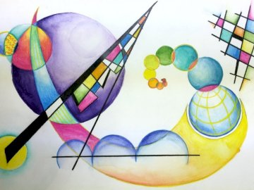 KANDINSKY 1 - Game that serves to know and work with works by the Russian painter V. Kandinsky.