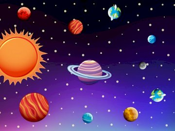We discover space - space, planets, class 1, for children.