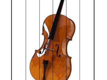 cello - cello musical instrument. A close up of a violin.
