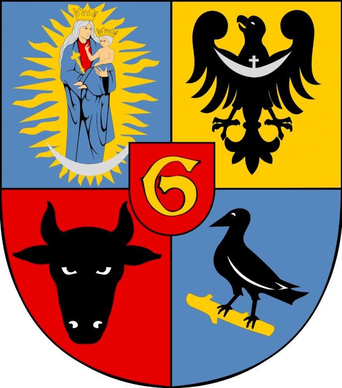 Herb miasta Głogowa - Ułóż puzzle Herb miasta Głogowa. Zbliżenie logo (6×3)