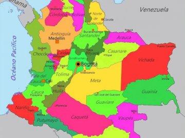 Kolumbia - Skoncentruj się i ułóż następującą łamigłówkę, związaną z mapą naszego pięknego kraju