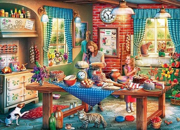 Kuchnia - Układanka. Wnętrze. Kuchnia (8×6)