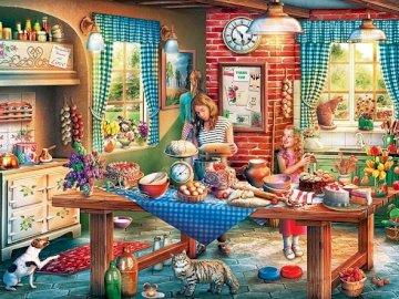 Cocina. - Puzzle. Interior. Cocina.