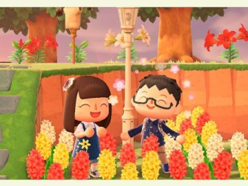 Animal crossing - Animal crossing - pretty tulips. A group of colorful flowers.