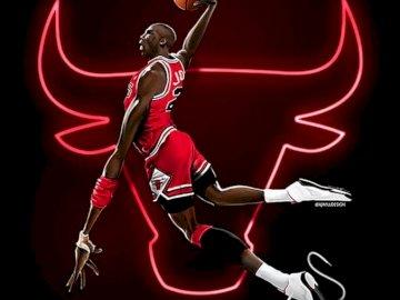 Michael Jordan - Puzzle szkoła sport 1.