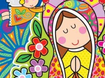 Madre de Dios - Madre de Dios: rompecabezas de mayo para los más pequeños.