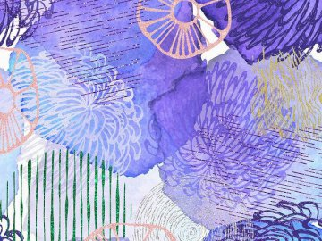 Mais abstrait! - Abstraction violette dans l'image.