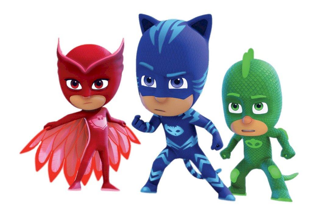 PUZZLE PJMASKÓW - PJMASKS HEROES Gdy wybija północ, Piżamasze zakładają kostiumy swoich superbohaterów na niezwykłe przygody. W tym czasie otrzymują szczególne uprawnienia. Są to: Yoyo, Gluglu i Bibou. Lalka- (2×3)
