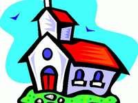 Puzzle d'église bicolore