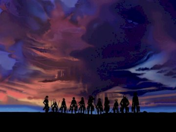 Shingeki no Kyojin Wallpaper - Shingeki no Kyojin, puzzle wallpaper. A group of clouds in the sky.