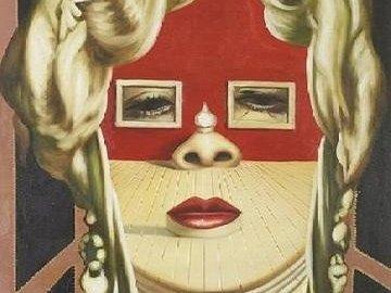 Sra. Grande - LA SALA MAE WEST. Remets les pièces du puzzle en ordre pour retrouver le tableau de Salvador Dalí,