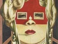 Sra. Stor - SALA MAE Väst. Sätt pusselbitarna för att hitta målningen av Salvador Dalí, Mae West.