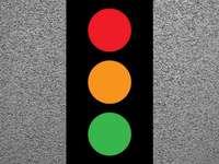 verkeerslichten - grootlicht grootlicht grootlicht. Een close up van een logo.