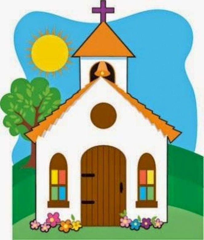 L'église à réparer - composer le puzzle de l'église. Un dessin d'un visage (3×3)