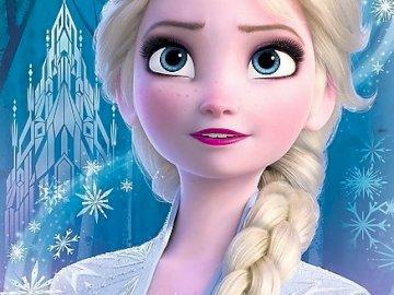 Frozen 2 Elsa 123456 - Elsa se viste de azul. Una persona posando para la cámara.