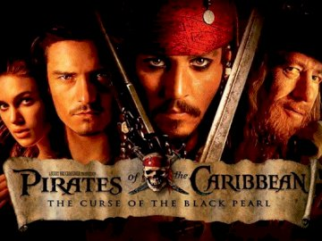 Pirates of the Caribbean - These are the pirates of the carribean. enjoy. Orlando Bloom looking at the camera.