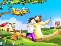 Pojďme dát dohromady puzzle Ježíše