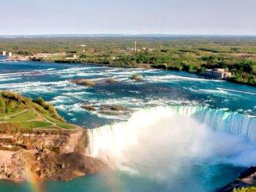 Niagara falls - Destination North America. A large body of water.