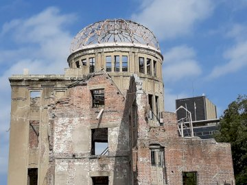 The dome of the Hiroshima atomic bomb - The atomic bomb dome in Hiroshima is a remnant of atomic bombing. A memorial that commemorates the s
