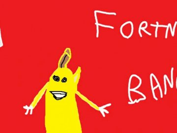 banana paint - this is my picture of a banana. A drawing of a cartoon character.