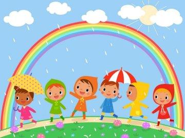 Rainy season - jigsaw puzzle for kids.